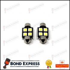 2 x 36mm CANBUS ERROR FREE SMD LED FESTOON BULB C10W C5W – WHITE