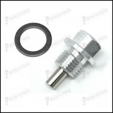 Silver M14 x 1.5 Thread Magnetic Oil Sump Plug With Crush Washer