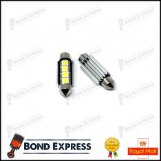 2 x 41mm CANBUS ERROR FREE SMD LED FESTOON BULB C10W C5W – WHITE