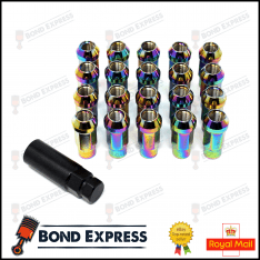 Epman Racing Steel Lug Nuts – M12 x 1.5 – Neo Chrome