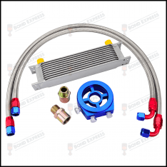 AN10 Universal Oil Cooler Kit | 10 Row