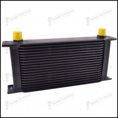 AN10 Universal Oil Cooler Kit – Black | 19 Row