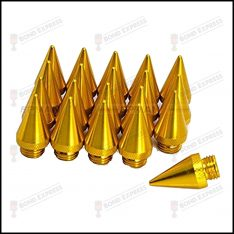Lug Nut Spikes – 20 Pack – Gold