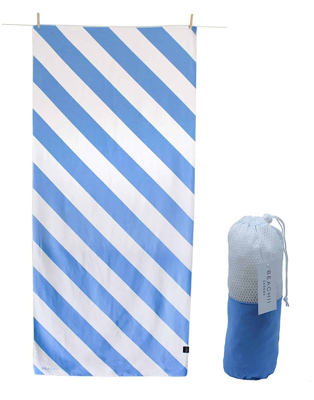 Large Microfibre Beach Bath Towel Sports Travel Gym Lightweight Quick Drying UK