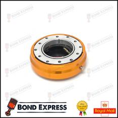 Gold – Quick Release Steering Wheel Hub Boss Adapter Kit – Snap off. UK STOCK!